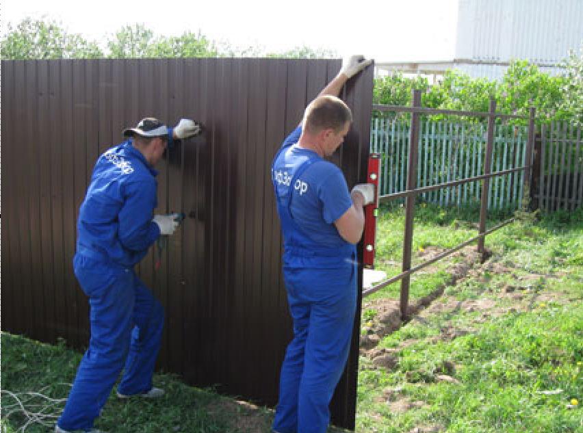 Забор из профлиста своими руками: пошаговый фотоотчет