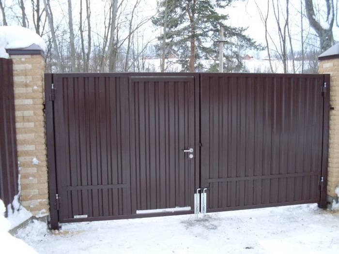 Покупка или самостоятельное изготовление дачных ворот с калиткой?