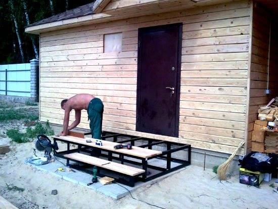 Металлическое крыльцо для дома и дачи своими руками