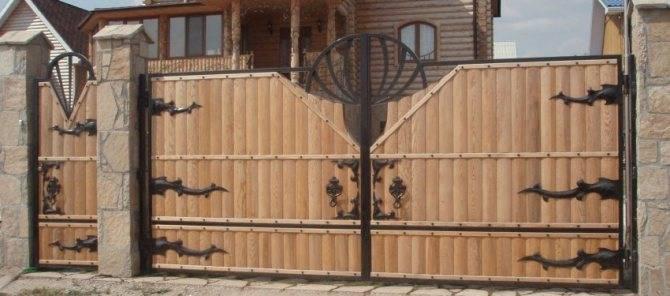 Особенности и виды откатных ворот с калиткой