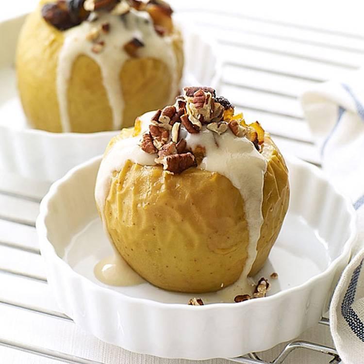 Традиционные и оригинальные рецепты печёных яблок с мёдом