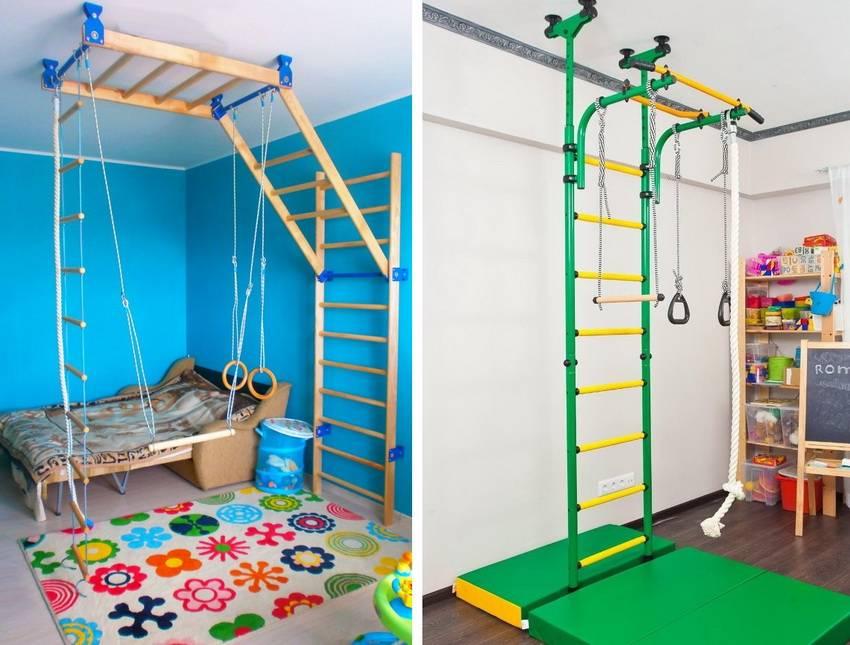 Детские спортивные комплексы для квартиры: виды и модельный ряд