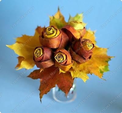 Роза из кленовых листьев своими руками: пошаговый мастер-класс с поэтапными фото и видео-уроками для начинающих