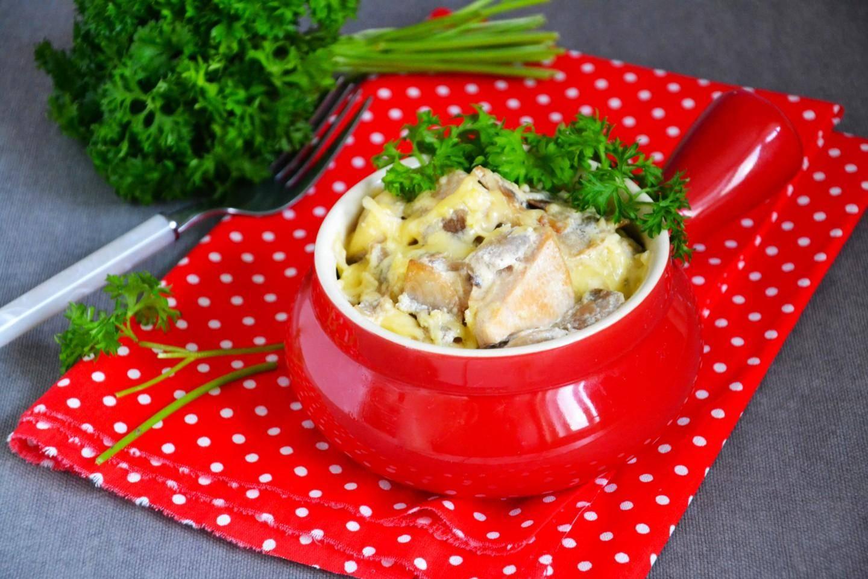 Готовим для всей семьи жульен с курицей и грибами