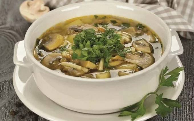 Рецепты грибного супа из свежих шампиньонов с картофелем — как приготовить