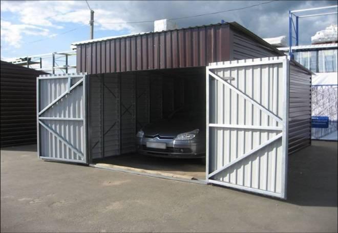 Строим гараж своими руками из профнастила: пошаговый процесс строительства