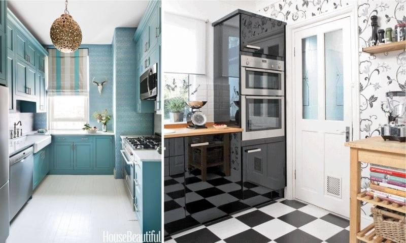 Подбираем сочетание обоев на кухню: критерии, правила и способы комбинирования