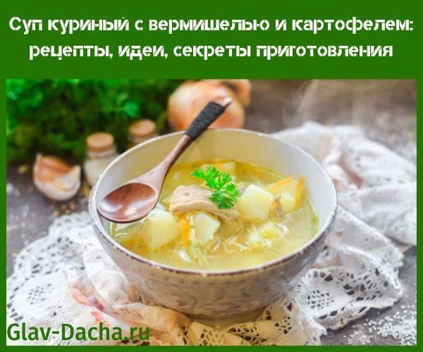 Суп куриный с вермишелью и картофелем, пошаговый рецепт с фото