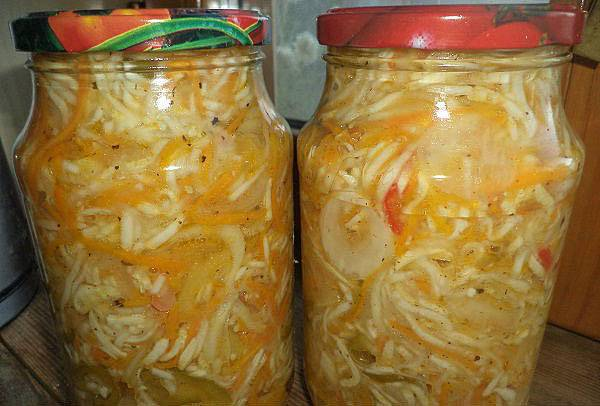 Салат из кабачков по корейски на зиму