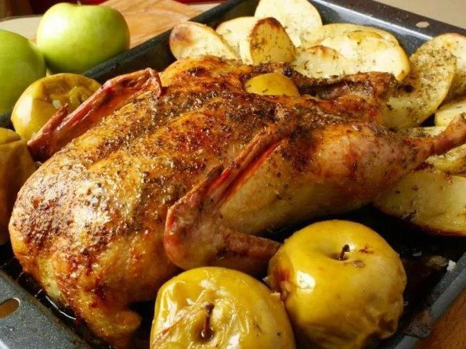 Утка запеченная в рукаве в духовке с яблоками