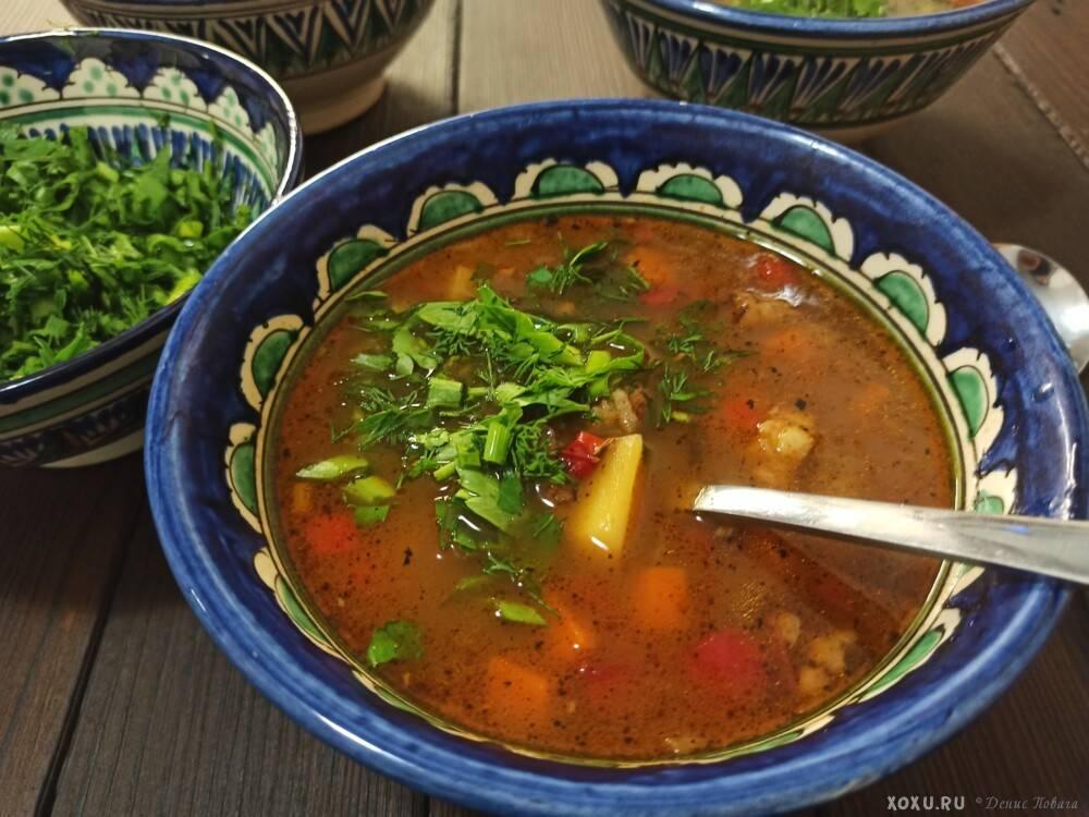 Машхурда по-узбекски – пошаговый рецепт узбекского супа с машем (машкорда)
