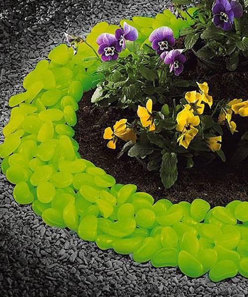 Светящиеся камни для декора сада, сделанные в Китае