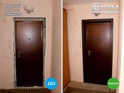 Как сделать откосы на двери своими руками