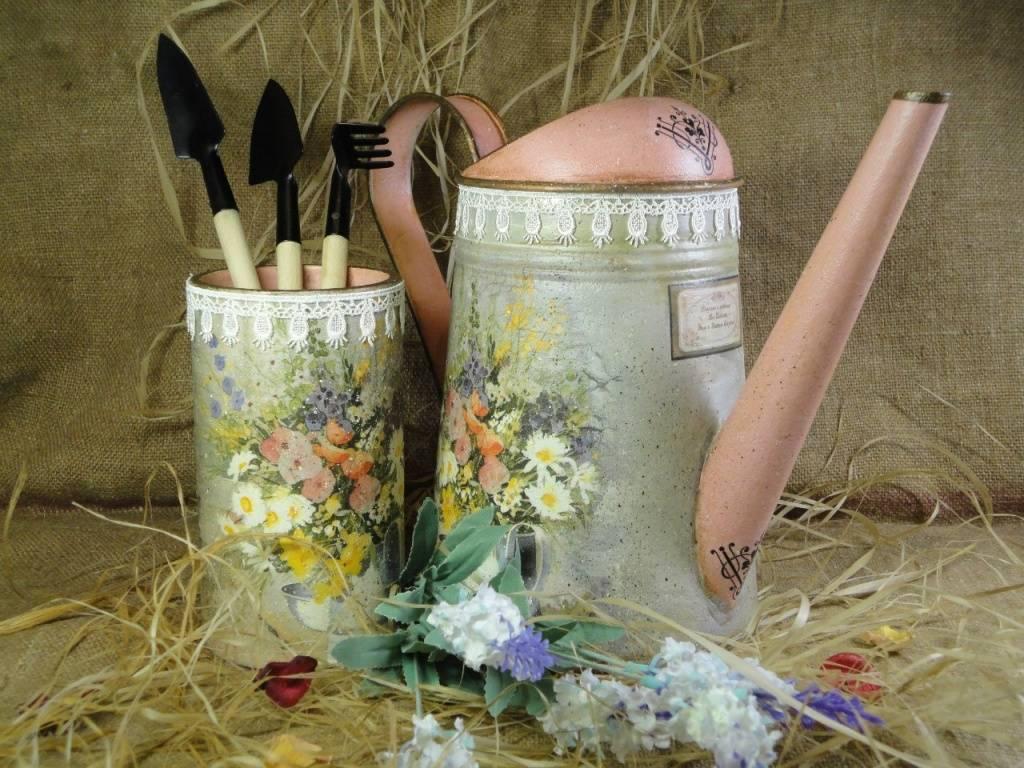 Декоративный цветочный горшок из пластикового ведерка. мастер-класс