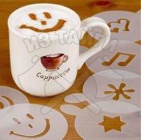 Трафареты для кофе из китая — характеристика набора, цена, видео