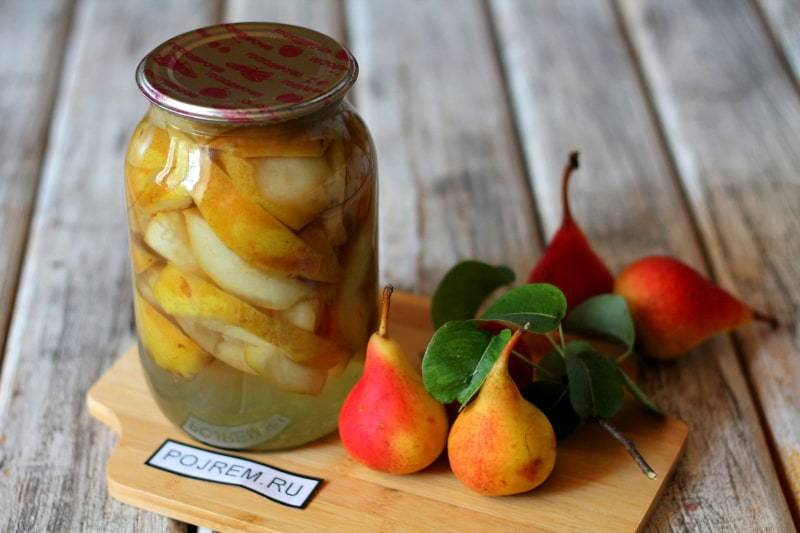 Компоты из груш на зиму: 11 рецептов на 3 литровую банку