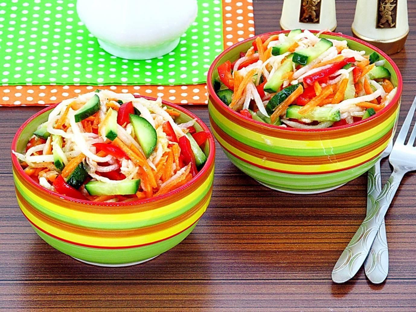 Салат из дайкона — 11 самых вкусных рецептов