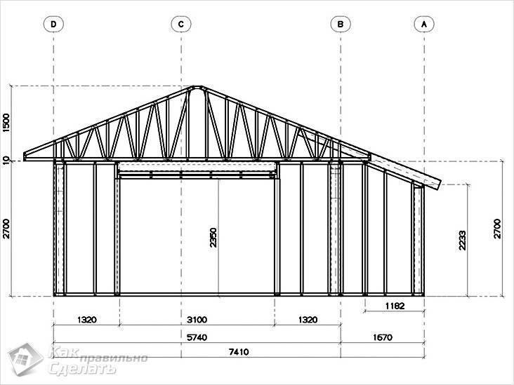 Строим качественный деревянный каркасный гараж