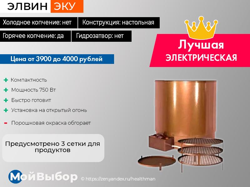 Электрические коптильни для дома холодного и горячего копчения