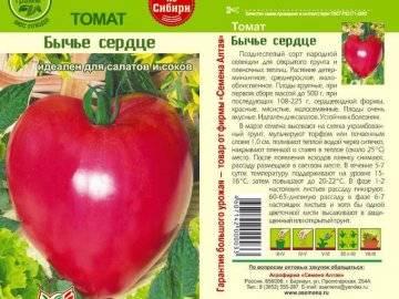 Выращивание помидоров бычье сердце