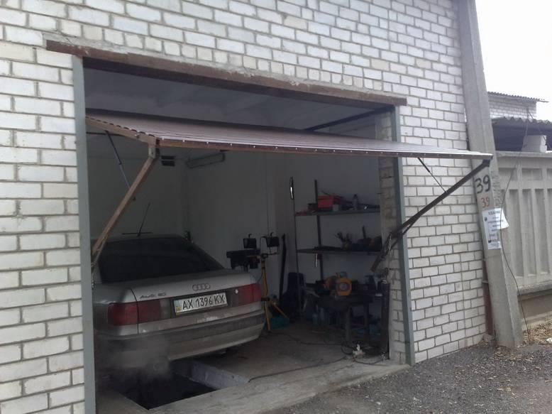 Самые лучшие подъемно-поворотные ворота для гаража своими руками