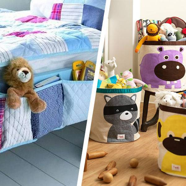 13 подсказок по организации системы хранения вещей в детской комнате