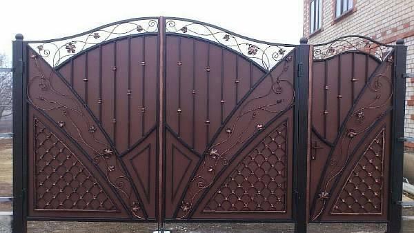 Установка металлических ворот и калиток разных видов своими руками