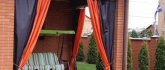 Шторы для беседок и веранд: как выбрать материал для уличных штор