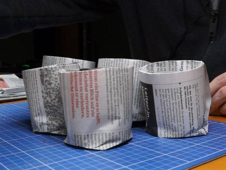 Стаканчики для рассады цветов из газеты (видео)