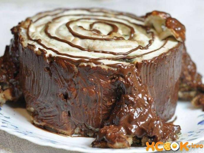 """Сказочный торт """"трухлявый пень"""" — десерт для детского праздника!"""