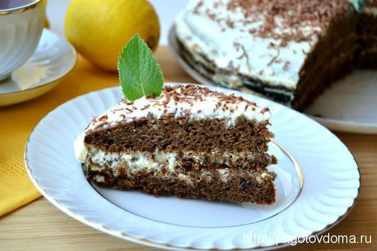 Трухлявый пень классический торт