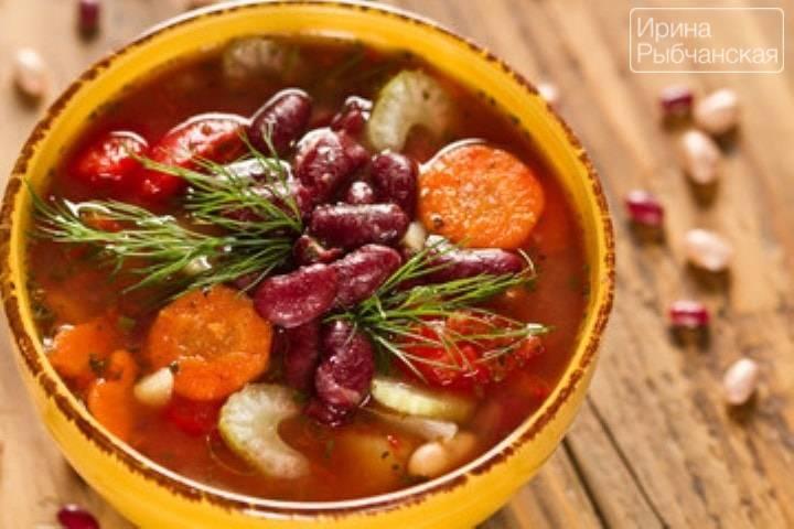 Суп с белой фасолью консервированной и морковью