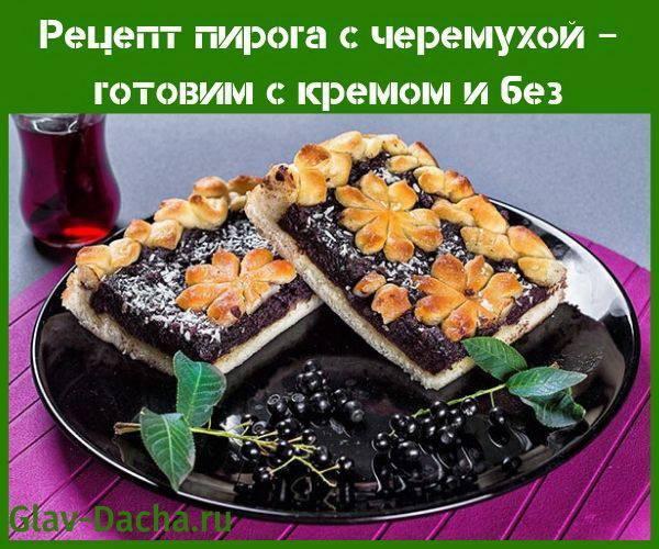 Рецепт пирога с черемухой – готовим с кремом и без