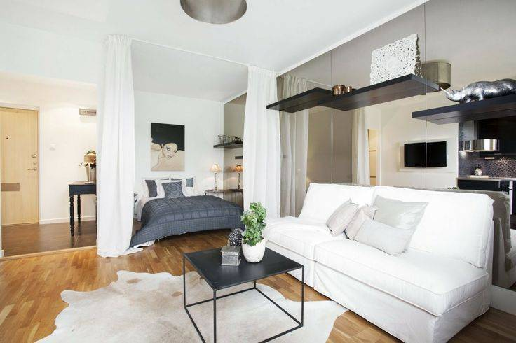 Дизайн гостиной-спальни до 18 кв.м: варианты меблировки, идеи зонирования, советы по оформлению