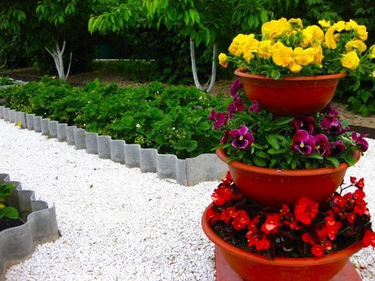 Красивые клумбы — подробная схема с описанием для начинающих садоводов (45 фото идей)