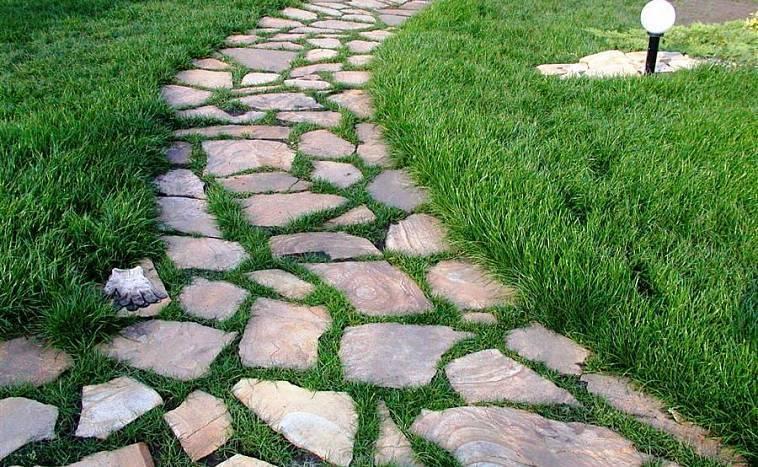 Садовые дорожки из камня: создаем красоту своими руками