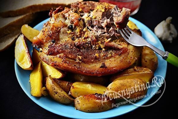 Вкусный маринад для рульки в духовке. запеченная свиная рулька в духовке: легкие пошаговые рецепты