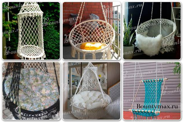 Кресло-гамак: подвесные модели для дома, как сделать плетеную модель макраме своими руками