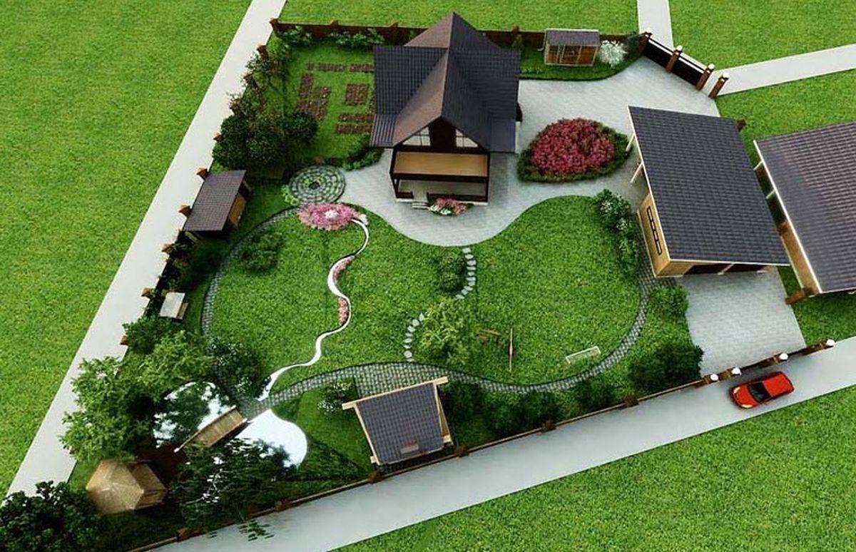 О планировке участка на 12 соток — варианты ландшафтного дизайна