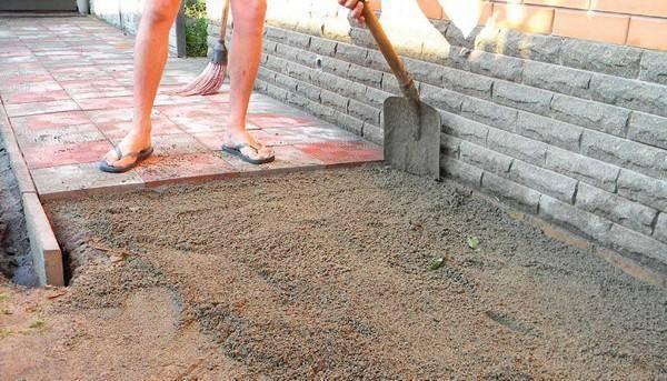 Раствор для тротуарной плитки