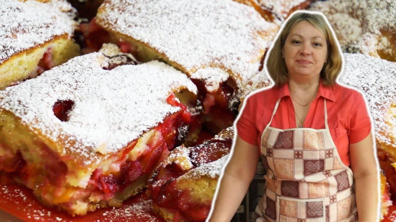 Пирог со сливами в духовке: 14 быстрых и простых рецептов в духовке