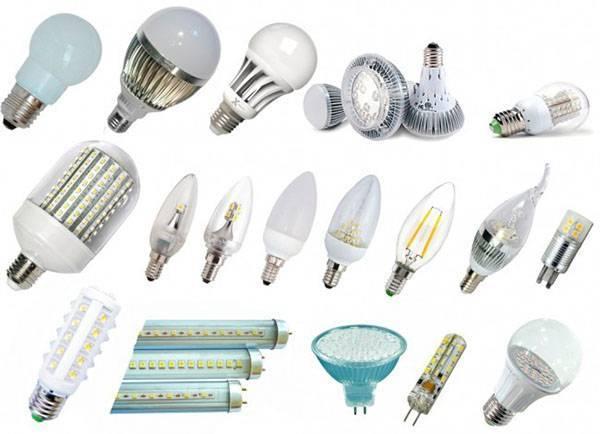 Виды ламп для искусственной подсветки растений
