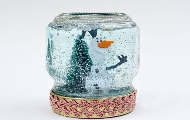 Снежный шар своими руками. мастер-класс с пошаговым фото. как сделать новогодний снежный шар из банки