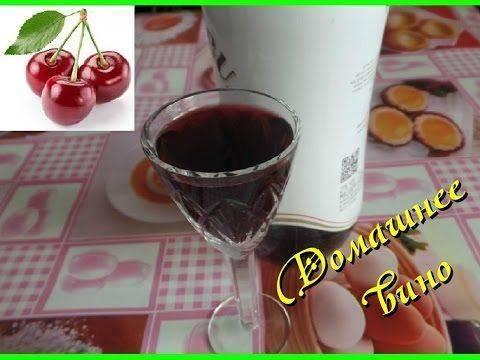 Как приготовить вино из вишни дома