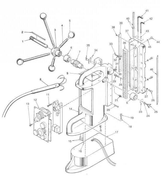 Этапы изготовления сверлильного станка своими руками