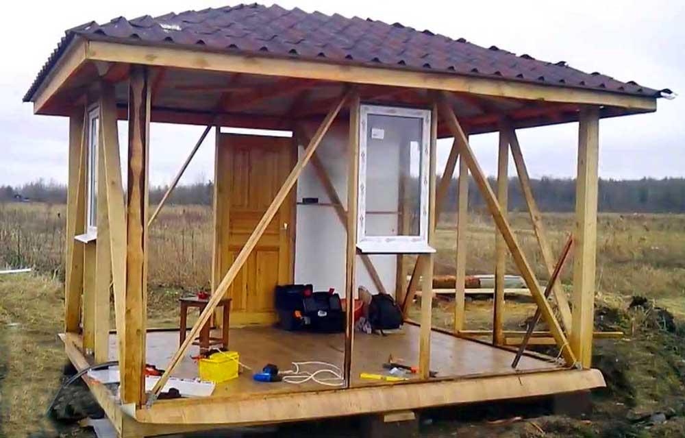 Начинаем строительство бытовки своими руками на дачном участке