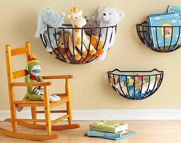 Как организовать хранение детских игрушек: много идей и фото