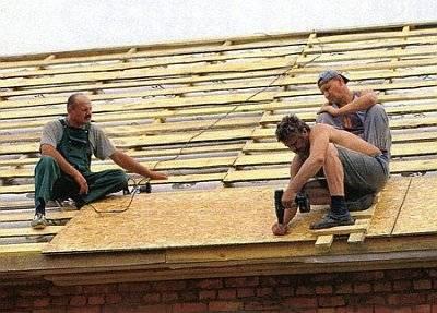 Делаем крышу из мягкой черепицы поэтапно