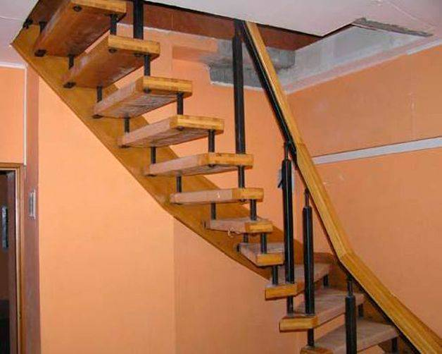3d расчет лестницы с поворотом 180 градусов