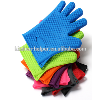 Разноцветные силиконовые прихватки-перчатки из Китая
